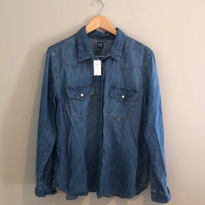 🆕{GAP} Denim Button Down Shirt